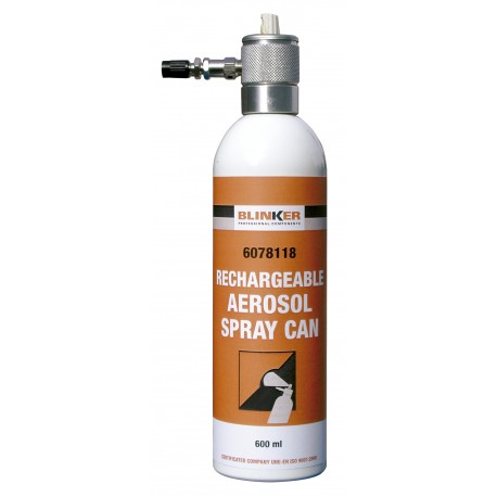 Bombe aerosol rechargeable 600ml