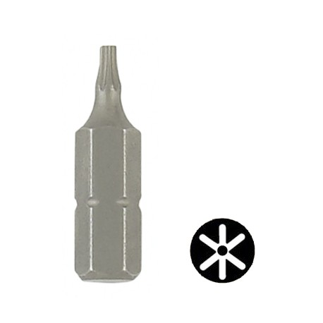 "Embout Torx inviolable 1/4"" hexagonale 25 mm"