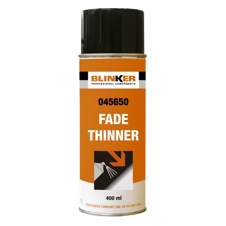 Spray dissolvant fade thinner